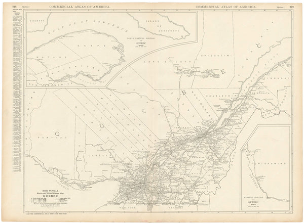 Quebec 1925: Mileage Map
