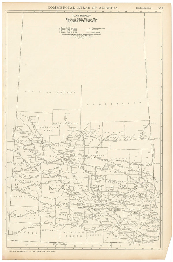 Saskatchewan 1925: Mileage Map