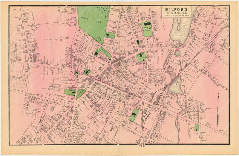 Milford Center, Massachusetts 1870