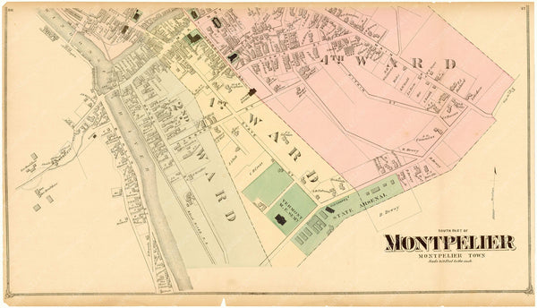 Montpelier, Vermont 1873: Downtown South