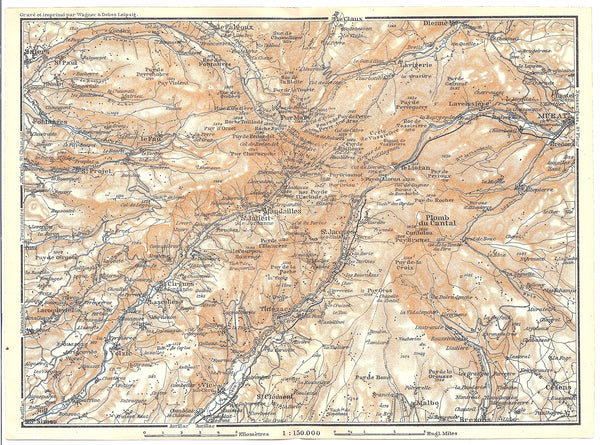 Auvergne-Rhone-Alpes (Department Cantal), France 1914
