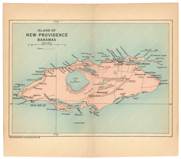 The Bahamas: New Providence Island 1927