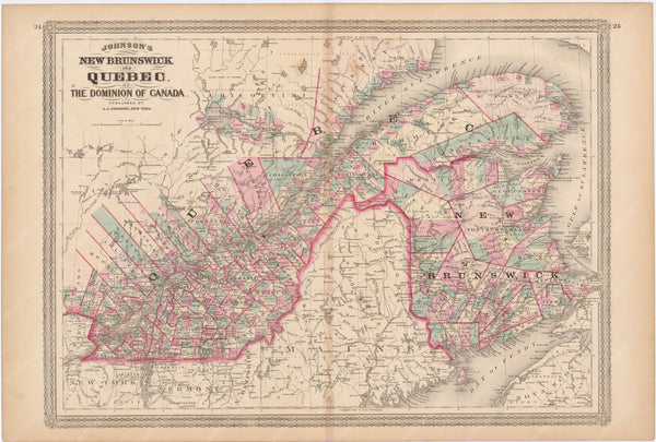 New Brunswick and Quebec 1873