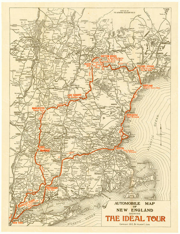 "New England 1912 ""The Ideal Tour"""