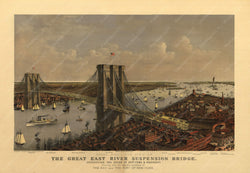 New York City: Brooklyn Bridge, New York 1885