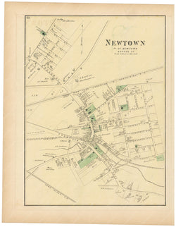 Newtown: Newtown Village, New York 1873