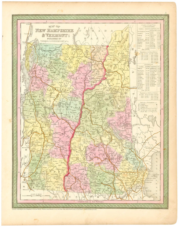New Hampshire and Vermont 1854