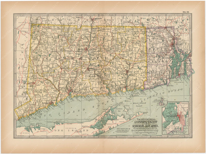 Connecticut and Rhode Island 1897