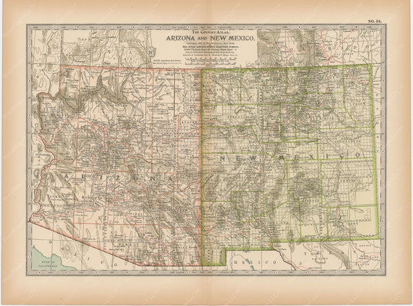 Arizona and New Mexico 1897