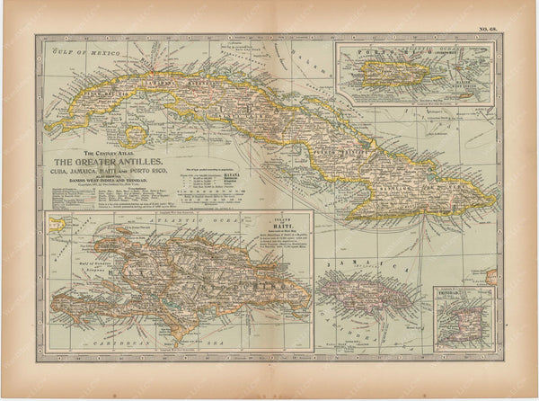 Cuba and The Greater Antilles 1897