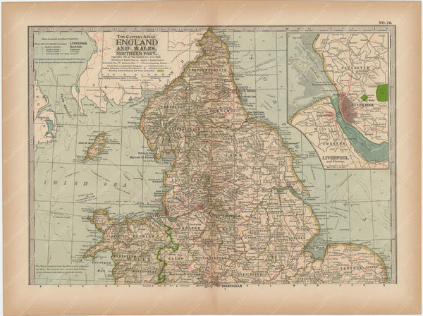England and Wales: Northern Part 1897