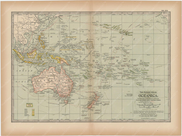Oceania and South Pacific 1897