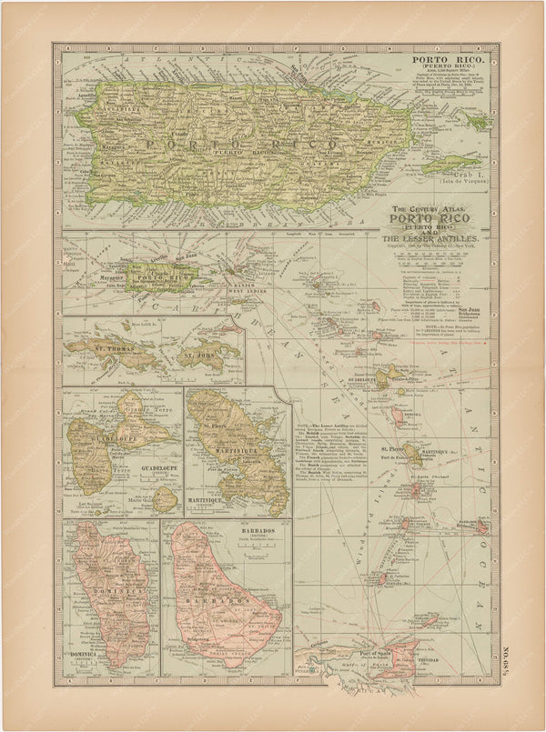 Puerto Rico and The Lesser Antilles 1897