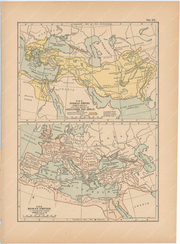 Classical Map 1897 no. IX: Empires of Persia, Alexander, and Rome