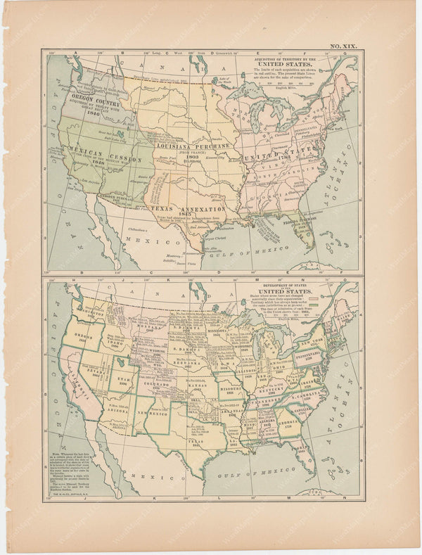 Classical Map 1897 no. XIX: United States Territorial Expansion