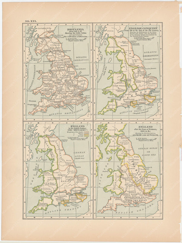 Classical Map 1897 no. XVI: Ancient England