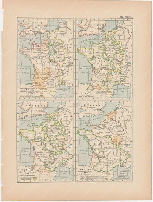 Classical Map 1897 no. XVII: Ancient France