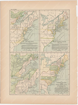 Classical Map 1897 no. XVIII: American Colonial Development