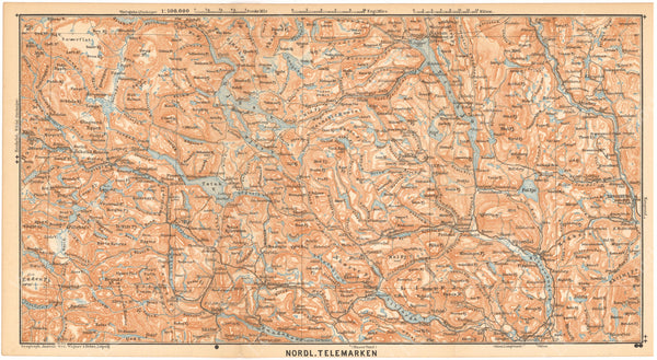 Telemark Region North, Norway 1898
