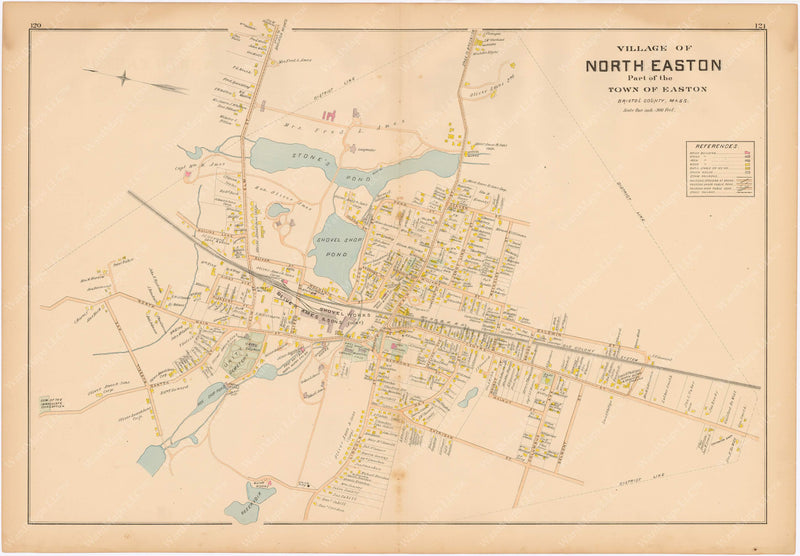 Easton, Massachusetts 1895: North Easton Center