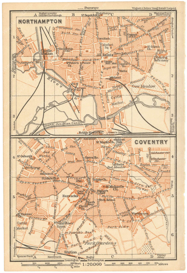Coventry and Northampton, England 1910