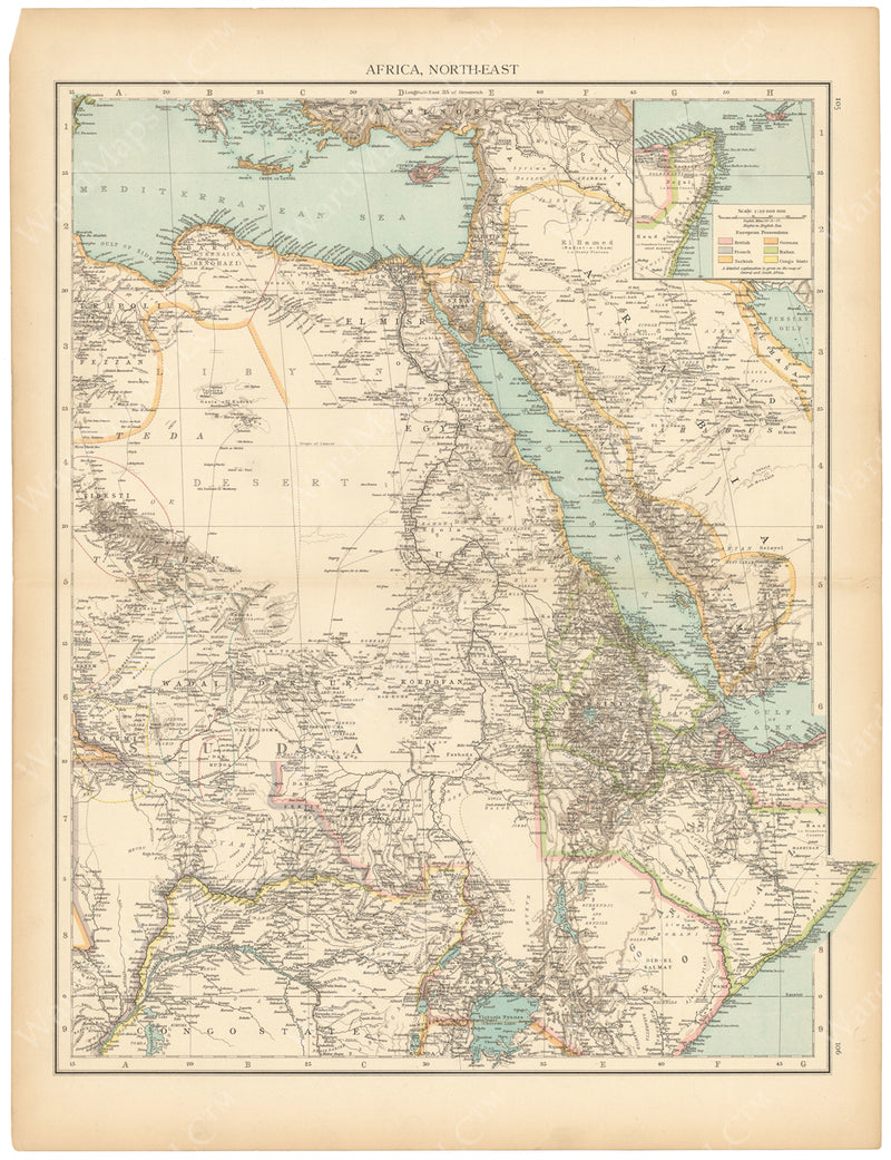 Africa 1895: Northeastern Part