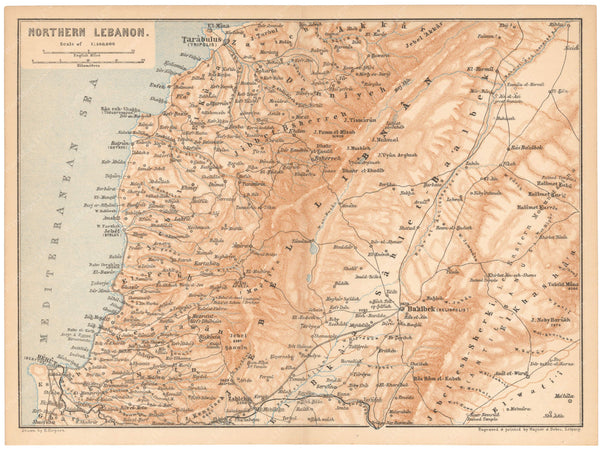 Lebanon: Northern Part 1898