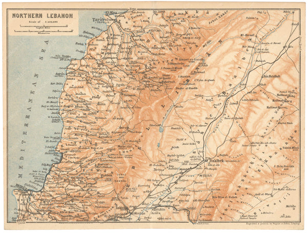 Lebanon: Northern Part 1912
