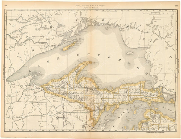 Michigan 1892 (Upper Peninsula)