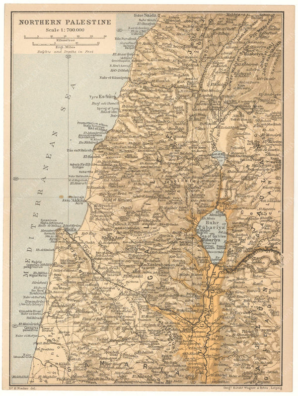 Palestine: Northern Part 1912