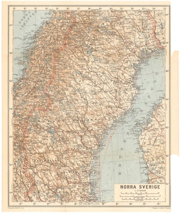 Sweden 1912: Northern Part
