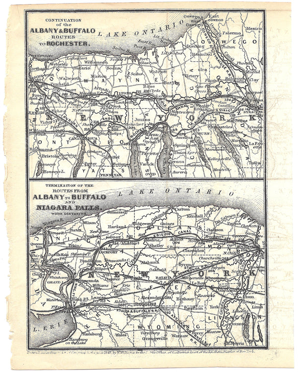 Railroads Serving Central and Western Upstate New York 1848