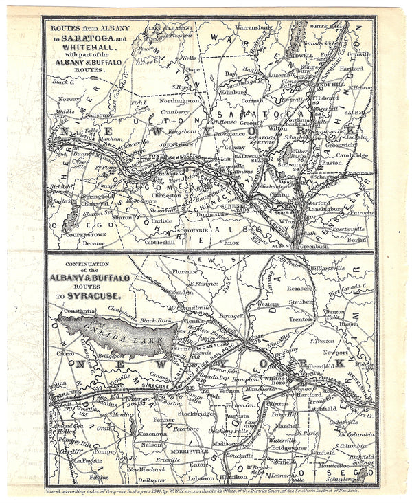 Railroads Serving Central and Eastern Upstate New York 1848