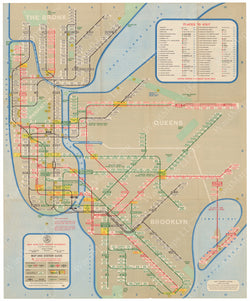 New York City Subway Map 1963