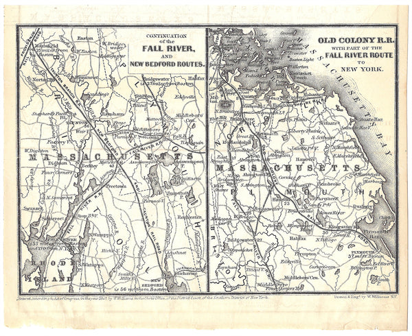 Massachusetts Railroads 1848: Fall River, New Bedford, and Old Colony