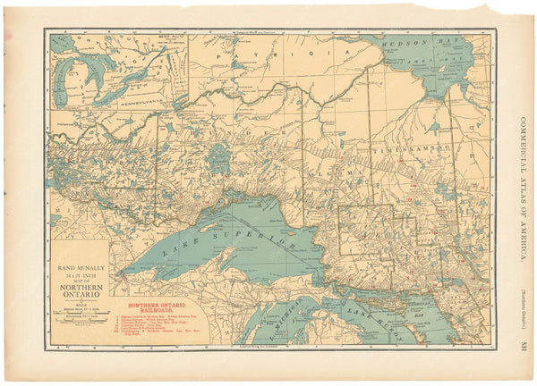 Ontario 1925: Northern Portion