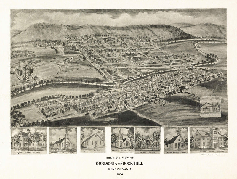 Orbisonia and Rock Hill, Pennsylvania 1906