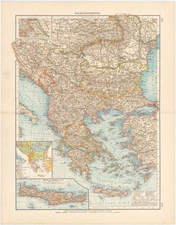 Balkan Peninsula and Greece 1899