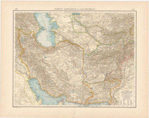 Afghanistan, Baluchistan, and Persia 1899