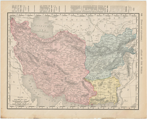 Afghanistan, Iran, and Persia 1900