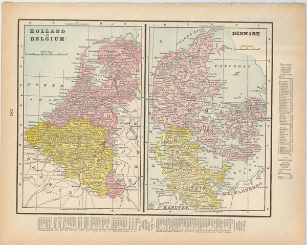 Belgium, Netherlands, and Denmark 1894