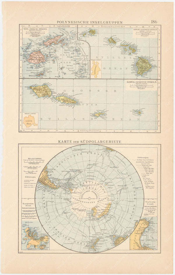 Pacific Islands and South Pole Region (Antarctica) 1899