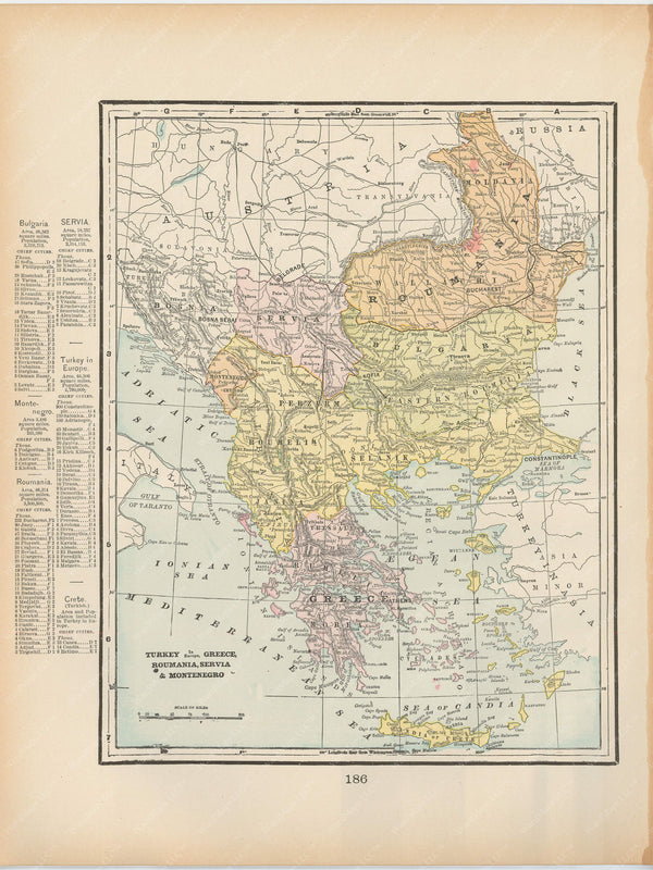 The Balkans and Greece 1894