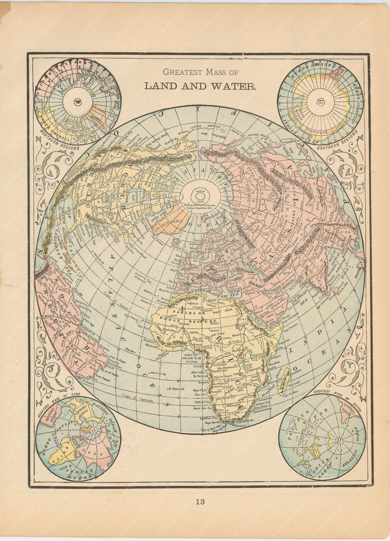 World's Greatest Mass of Land and Water 1894