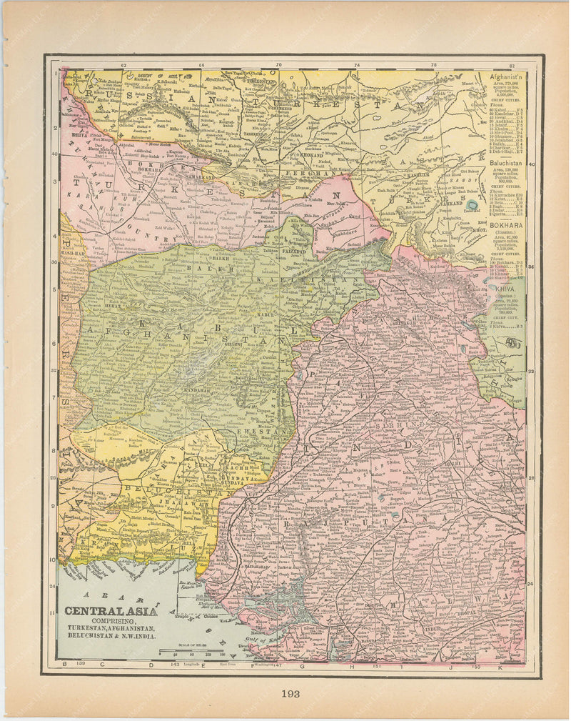 Afghanistan, Baluchistan, and NW India (yet to be Pakistan) 1894