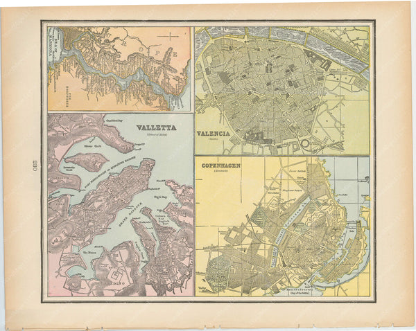 Valletta, Malta; Valencia, Spain; Copenhagen, Denmark; and The Bosphorus, Turkey 1894