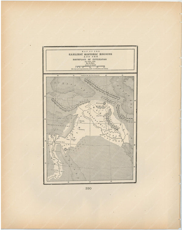 Classical Map 1894: Birthplace of Civilization B.C. 3000-1000