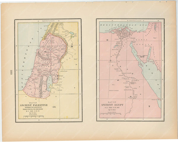 Classical Map 1894: Ancient Palestine and Egypt