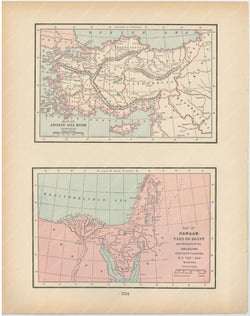 Classical Map 1894: Ancient Asia Minor and Canaan
