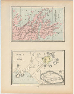 Classical Map 1894: Ancient Greece and Athens